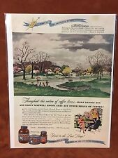 """Vintage 1947 """"Part Of The American Scene""""  Maxwell House Print Ad"""