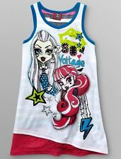 MONSTER High Tank Top Shirt Girl's 10/12 Glitter Lace NeW Draculaura Frankie