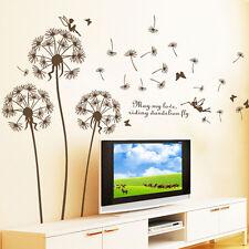 Dandelion Flowers Floral Wall Sticker Home Decor Removable Living Room DIY