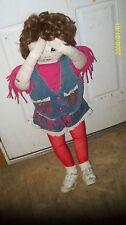 Standing In The Corner Doll. Handmade Girl Pink