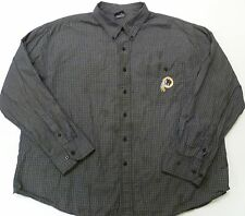 Washington Redskins Long Sleeve Button Down Shirt NFL Team Apparel Black Checks