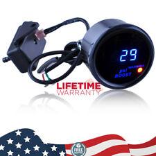 "2"" 52mm Black Cover Car Universal Digital Blue LED PSI Turbo Boost Gauge Meter"