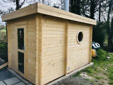 Outdoor Garden Sauna 45mm 3.6mx2.4m 28mm Floor Boards Double Glazed