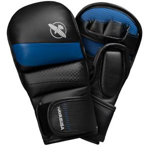 Hayabusa T3 7oz Hybrid Mixed Martial Arts Gloves, Black/Blue Medium
