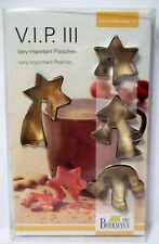 VIP III, 3 pastry cutter set for cup-adorning cookies,  Birkmann biscotti cutter