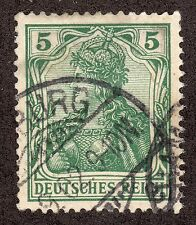 Germany # 67 (1902) 5pf - Used: Grade: XF/S - Germania Issue