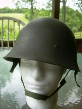 Swedish m26 Steel Military Helmet, with web Liner & Chin Strap