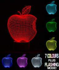 Optical Illusion 3D Lamp Apple  *Colour Changing 7 Colours*
