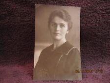 Antique German Black & White Classy Woman Portrait Photograph Collectible Art