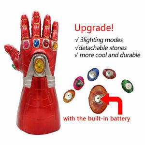 Avengers Iron Man Tony Thanos Infinity Gauntlet Marvel LED Gloves Removable Xmas