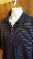 Donald Trump Signature Collection Men Polo Shirt Sz XL Blue Stripe