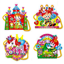 Creative Handmade Cartoon Pattern Hand Sewing Bag Craft Kit Kids Puzzles Toy