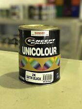 Concept Paints 1LT 2K Satin Black. Automotive Paint. Ratio 2:1.