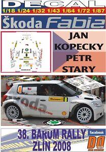 DECAL SKODA FABIA JAN KOPECKY RALLY BARUM ZLIN CAR 0 2008 (06)