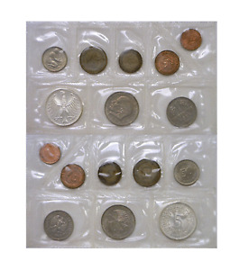 1950's & 1960's Germany 8 Coin Lot Type Set Circulated