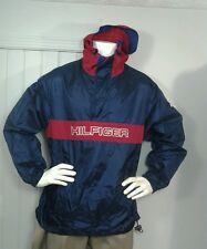 Tommy Hilfiger  Windbreaker Jacket Spellout Sz M With Hood GUC