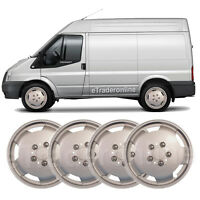"4 x Domed Van 15"" Inch Wheel Trims Silver Deep Dish Hub Caps Bulbous Trim X 4"