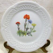"Louis Lourioux Porcelaine France Wild Flower Canape Plate 5 3/4"" #4"