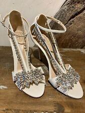 L X Jenny Packham's K Bennett Zapatos De Novia Con Cristales Talla 5