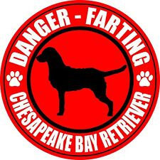 "Farting Chesapeake Bay Retriever Fart 5"" Dog Sticker"