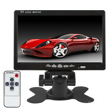 "HD 800*480 7"" TFT LCD Color 2 Video Input DVD VCR Car Rear View Headrest Monitor"
