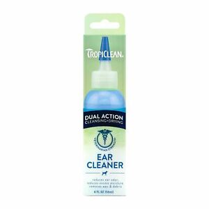 Tropiclean Dual Action Ear Cleaner Drying Removes Wax Debris Odor for Dog Puppy