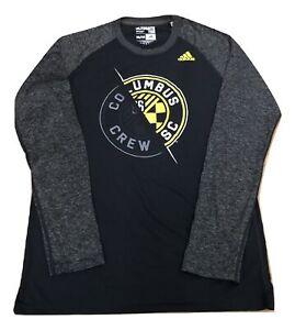 Adidas MLS Columbus Crew S.C. Raglan L/S Tee Black/Gray/Yellow 4715a