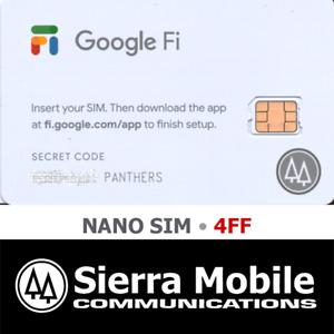 GOOGLE FI SIM CARD  NANO 4FF • 4G-5G LTE • Genuine NEW • WITH USPS TRACKING