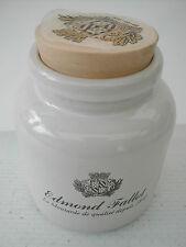 * mustard pot by gres Edmond fallot blazon 10 cm x 8.5 cm ø mustard jar