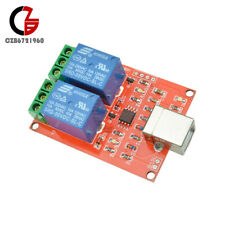 2 Channel USB Relay Module DC 5V Programmable Computer Control For Smart Home