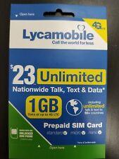 lycamobile 23*1 preloader sim card 10 packs