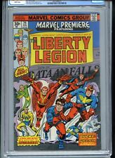 Marvel Premiere #29 CGC 8.0 White Pages 30 Cent Variant Liberty Legion