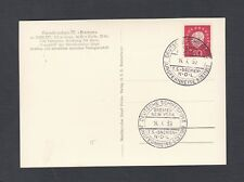 GERMANY 1959 NDL T.S. BREMEN SHIP COVER & POSTCARD TO DOMINICAN REPUBLIC