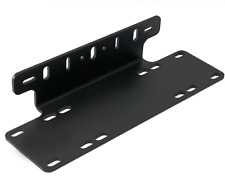 1 Steel Front Bumper License Plate Bracket For Off-Road LED Spot Flood Light Bar