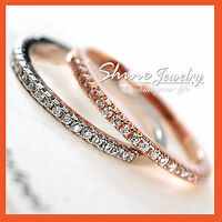 18K GOLD GF SIMULATED DIAMONDS stackable ANNIVERSARY ETERNITY BAND WEDDING RING