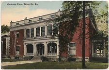 Womans Club in Titusville PA Postcard 1915