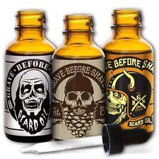 GRAVE BEFORE SHAVE Beard Oil 3 Pack (Original, Pine, and Viking Blend Beard oil)