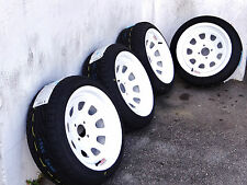 15X8 WHITE DIAMOND RACING RIMS W/ 195-45-15 TOYO PROXES T1R TIRES MIATA COROLLA