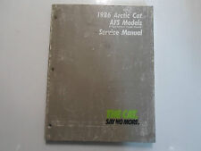 1986 Arctic Cat AFS Models El Tigre Pantera Cheetah Cougar Service Shop Manual