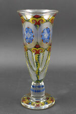 99835029 Chalice Glass Stone Beautiful Bohemia Historicism Enameled Black Lot