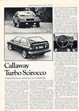 1983 Callaway Turbo Scirocco - Classic Article D70