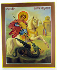 Saint George the Victorious Religious Icons Archangel Orthodox Hand painted 20