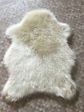 Plain Soft Faux Fur Sheepskin Flokati Like Pelt Shape Fluffy Rug Mat 70 x 100cm