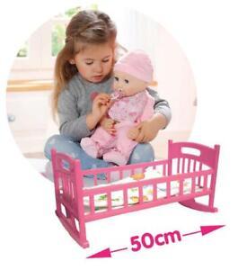 "Kid Crib Cradle Baby Pink Bed Furniture for 11""-19"" Reborn Doll Kid Pretend Play"