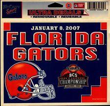 FLORIDA GATORS 2007 BCS CHAMPIONSHIP GAME ULTRA DECAL