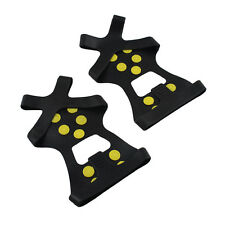 10-Stud Ice Snow Shoe Boot Spikes Grips Crampons Cleats Anti Slip Hiking Size M
