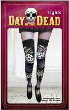 Halloween Day Of The Dead Spider Skull Tights Fancy Dress Costume Accessory