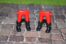Playmobil 2 Stiefelbeine Rot  Soldaten Piraten Nordstaaten Südstaaten  4611 ACW