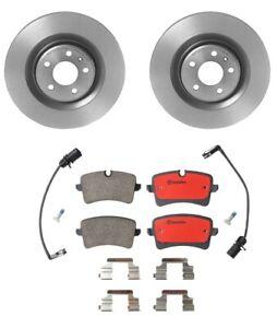 Brembo Rear Brake Kit Ceramic Pads Sensors & Disc Rotors For Audi A8 Quattro S8