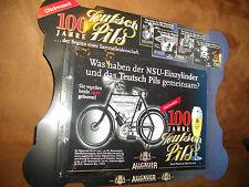 Blechschild von Allgäuer ca.  26 x 18 cm Motiv NSU Einzylinder Fahrrad